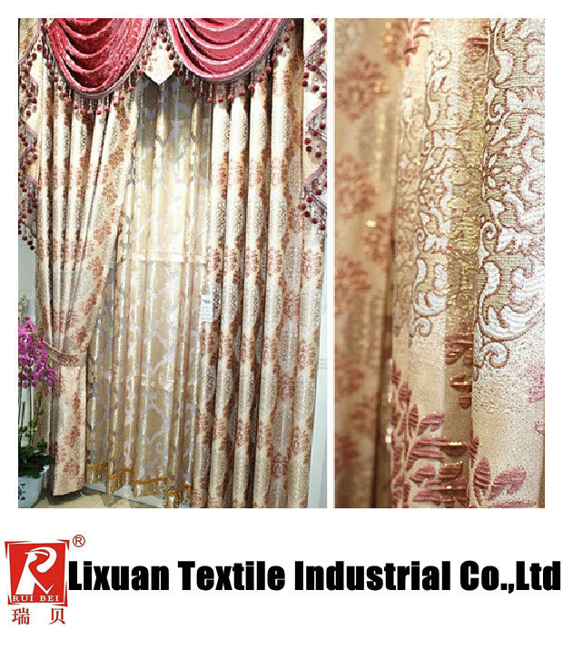 luxury curtain for villa /home curtains set