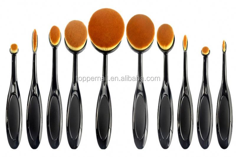 OEM suppport oval kabuki make up brushes for professional use