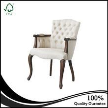 Wholesale factory price living room upholstered chair luxury furniture antique armchair