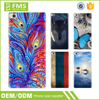 Customized 4.3 Android 5.5 Inch Ultra Slim Soft Silicon Mobile Case For Huawei P8 Phone Case
