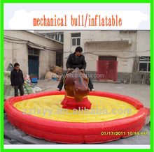 Playground electric toy amusement rides bull riding machine feel spanish style