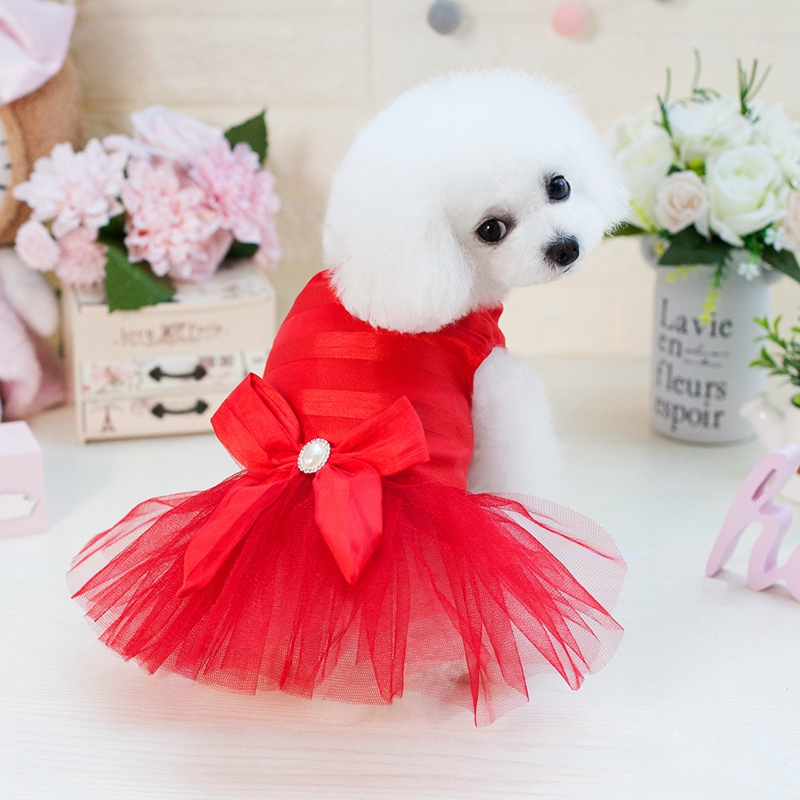 Korea and Japan Style Dog Bride Dress For Dogs Made In China
