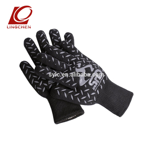 932F heat resistant aramid oven gloves cooking bbq safety gloves by En407