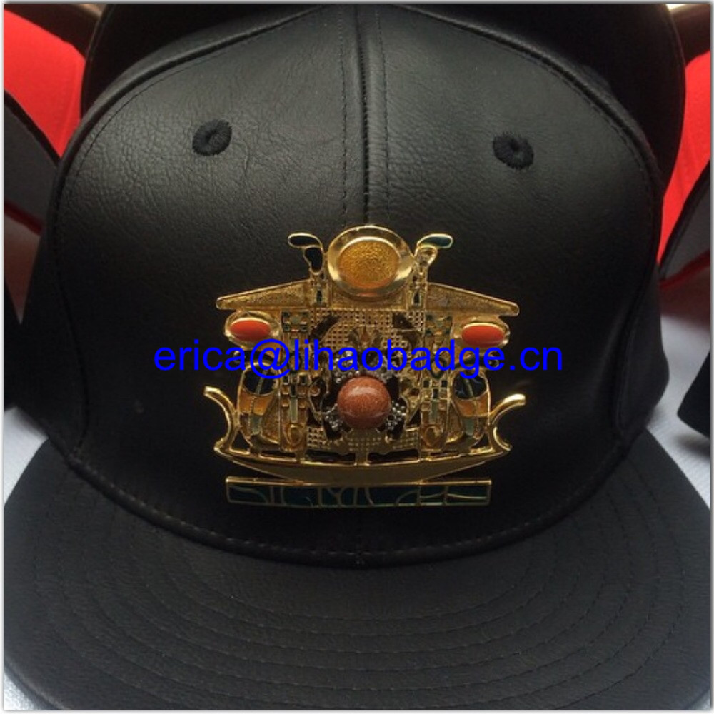 metal embossed logo plate for hat brand tag for cap