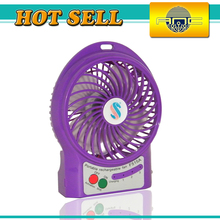 Good quality high power 3 wind level mini electric fan,led usb mini wind fan