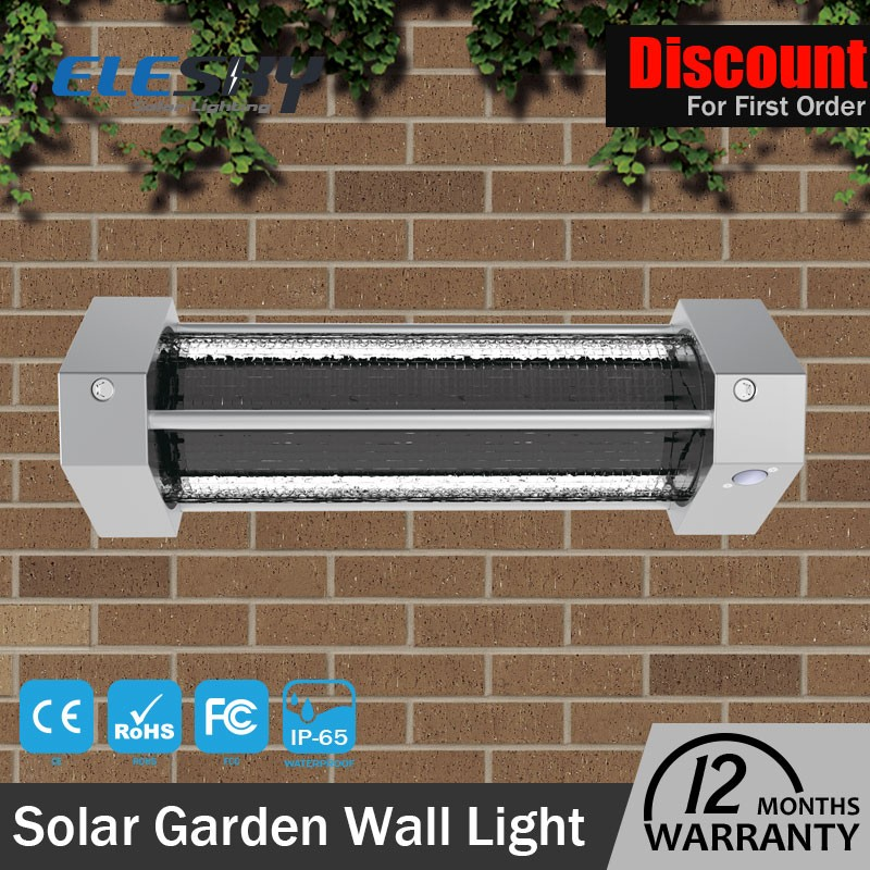 2017 newest best quality cheap price wall mounted outdoor solar lighting