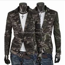 Custom High Quality Mens Unconstructed Sport Jacket Camouflage Blazer