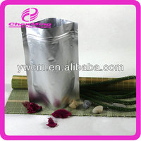 Yiwu high quality silver zip aluminum foil supplement packaging bags