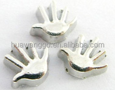 Hand shape floating charms wholesale in glass lockets