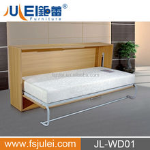 Manual Open Slatted Bed Base Murphy Wall Bed