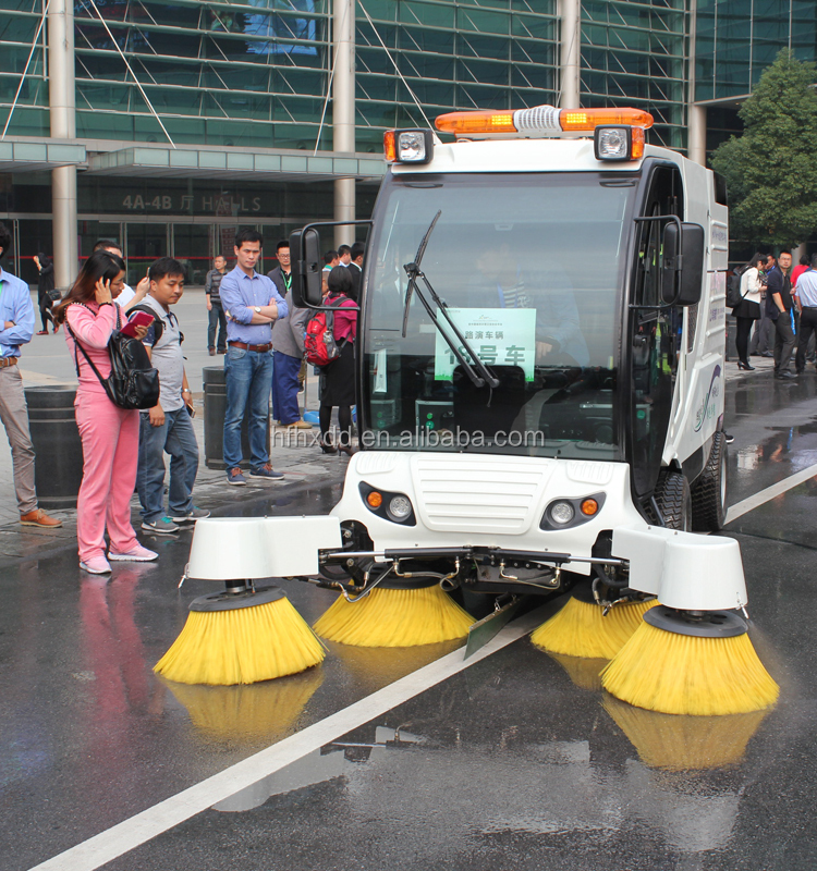 CE road sweeper, road sweeping machine/high pressure cleaner/vacuum street sweeper with water spray QS4A12500