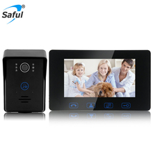 7 inch TFT LCD touch key video doorbell camera,multi apartments video door phone