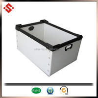 2015 corrugated white plastic box with handles