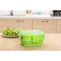 Green Storage Microwavable Stackable Food Container