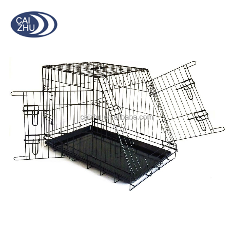 2 Doors Car Version Slanted Pet Dog Carrier Cages Puppy Dog Cage Crates