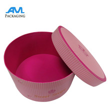 Stocked luxury wholesale custom round flower packaging paper gift box