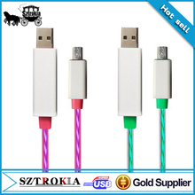 light up usb charging charger cable for iphone colorful LED Running Light USB Data Cable for iPhone 5