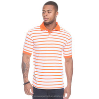 polo-t shirt white and deep brown stripes polo shirt