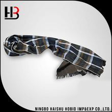 Custom checked men winter scarf shawls and scarves