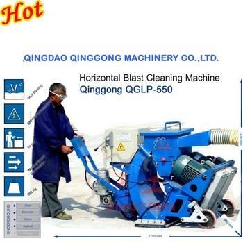 concrete floor shot blasting machine
