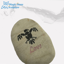 inspirational engraved gratitude wish stones with word
