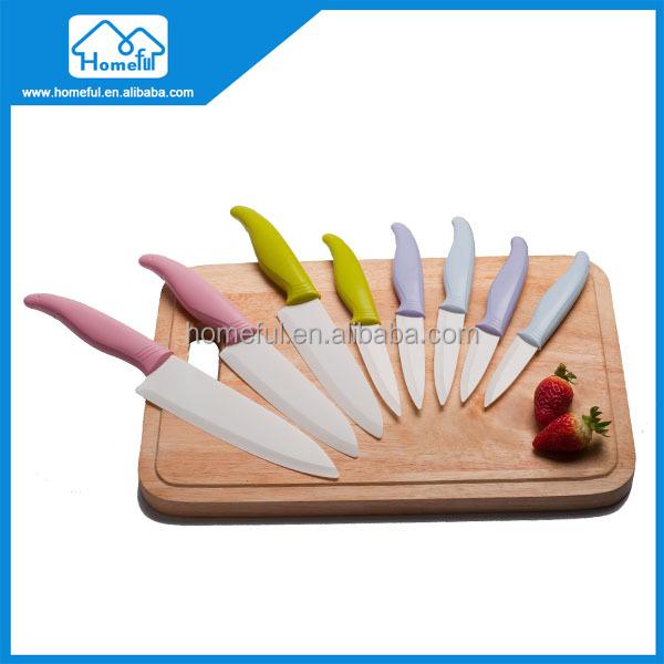 Promotion kitchen 5pcs ceramic knife set for gift as seen on TV