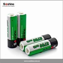 Soshine Cheap price 2700mAh cell 1.2V Battery No Memory Effect AA Battery Ni-MH Rechargeable AA/Mignon battery 2700mAh