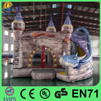 China hot selling kids jumping boluncy house slide inflatable castle slide for sale