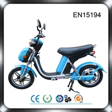 Small electric scooter moped 350W electric motorcycle with pedals assistant