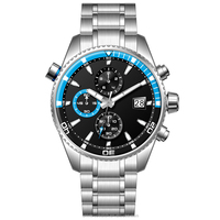 Top quality 10 ATM waterproof 316L stainless steel chronograph watches men wrist luxury brand U2701-02
