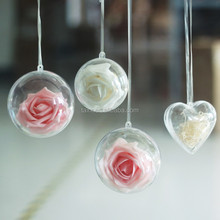 good quality hanging plastic clear hollow ball for indoor decoration