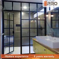 2017 new design bathroom aluminum tempered glass swing shower door