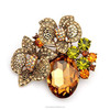 Rhinestone brooch pin, butterfly brooch ,wedding brooch(swtaa1458)