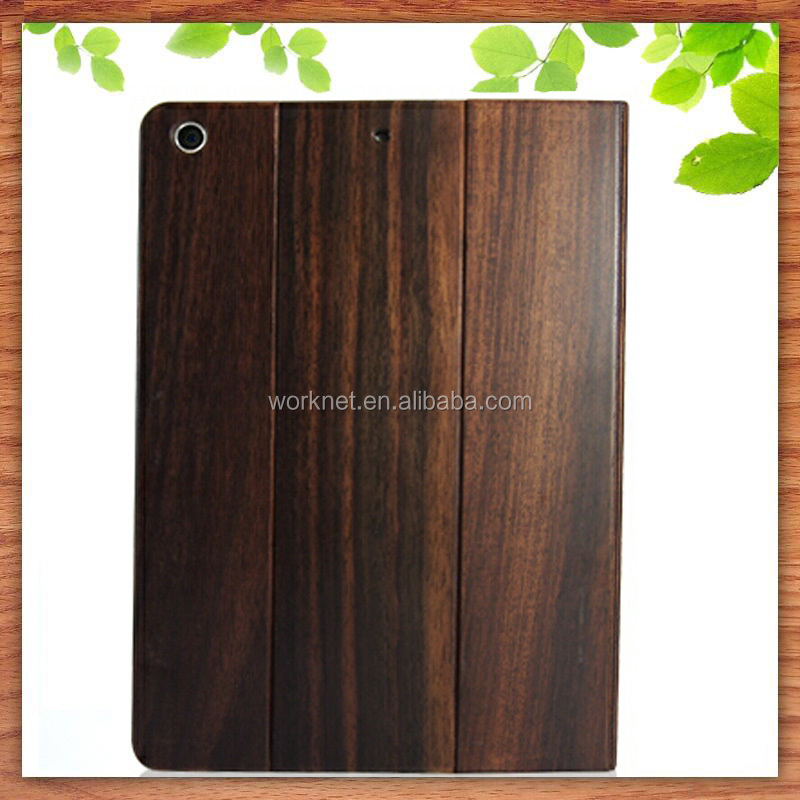 2016 new hot selling real wood smart folio leather case for ipad mini 4,for ipad mini 4 case leather, for ipad mini 4 case folio