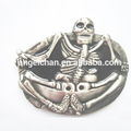 Fashion new customized cowboy skull western buckle with guranteed quality back w/teeth R-0446-33 40mm