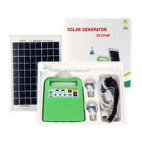 mini solar system with mp3 and radio for 5V Electronics and 12V DC bulbs (with USB port to charge mobile phone )
