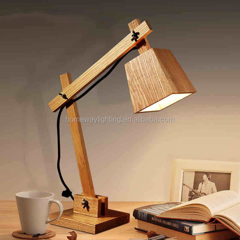 Modern Lovely Dog Wooden Study Bedside Reading Table lamp