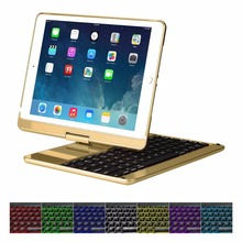 Official Style LED Notebook Keyboard Hinged Latest Model for iPad Air/Pro 9.7''