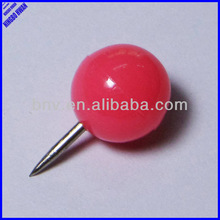 Quality decorative colorful round shaped push pin
