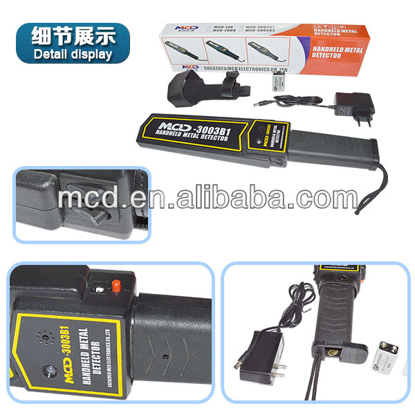 Security Super Scanner Hand Held Metal Detector Made In China