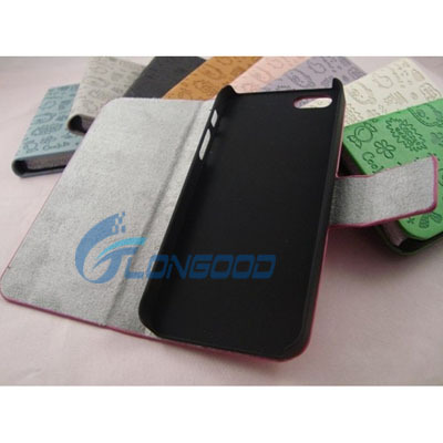 2015 Top Quality Universal Flip Cover Leather Case For iPhone 5 5G