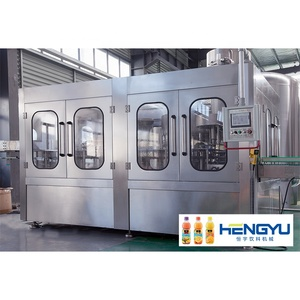 Heng Yu automatic fruit juice / tea PET bottle hot filling / packaging / processing machine / equipment production line plant