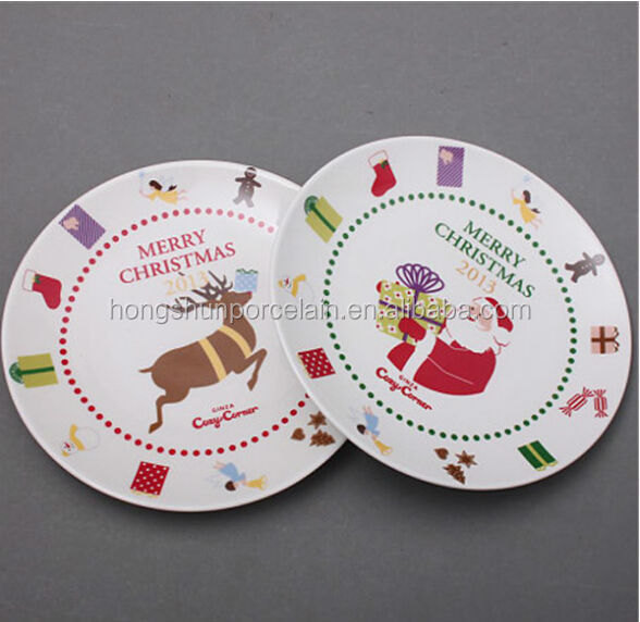 wholesale cheap ceramic kid dinner plate with full cartoon decals/customized soup dishes and plates
