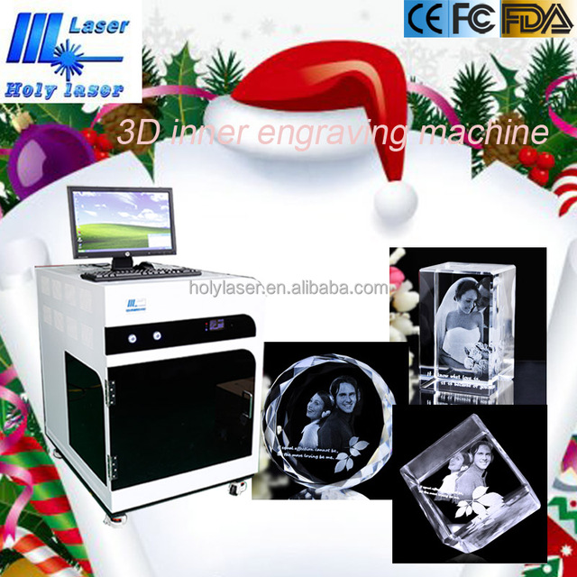 Birthday Gift Machine Photo Crystal 3d Laser Engraving Machine Christmas Ornaments Machine