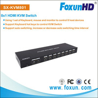 8 Ports auto switching HDMI , connectors use 1 console port to 8 KVM port,China Manufacturer&Supplier