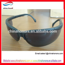 Protective eyewear black safety glasses en166/Protector Safety Spectacle Smoke Lens