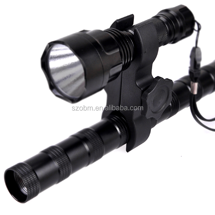 QQ09 Patent Product 25mm/30mm Adjustable Plastic Hunting Tactical Flashlight Gun Scope Mount