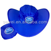 Custom cheap simple nylon folding hat with printed advertising