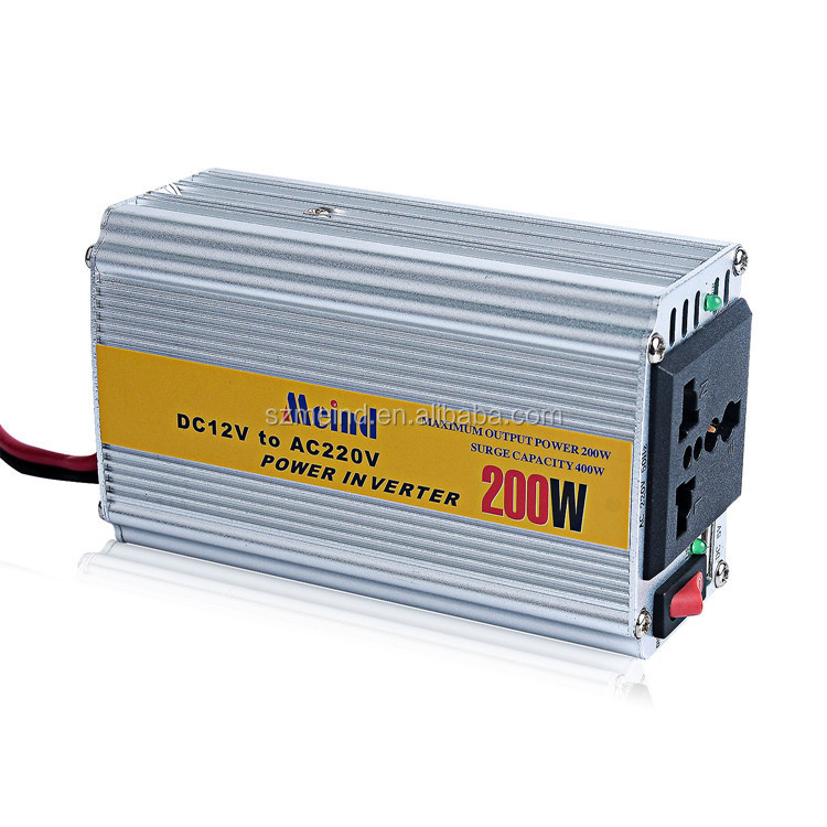 Full power hot sales Meind solar inverters 200w 12v 24v DC/AC converter
