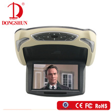 9 inch Car flip down dvd player with wireless games for car roof mounted